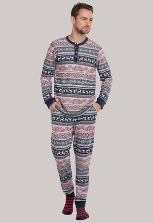 Schiesser Pižama dolg rokav